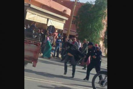 الأمن يتدخل لتفريق وقفة احتجاجية ببوعرفة ويعتقل محتجين