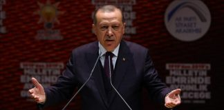 أردوغان: يد أمريكا تلطخت بالدم الفلسطيني وإسرائيل تمارس الإرهاب وعلى المسلمين أخذ حقوقهم بأنفسهم