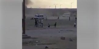 فيديو.. مشهد خطير من مواجهات الأمن ومحتجي جرادة