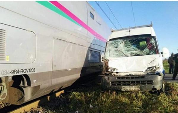 حادثة سير ل TGV أثناء تجارب الأداء قرب مدينة أصيلة