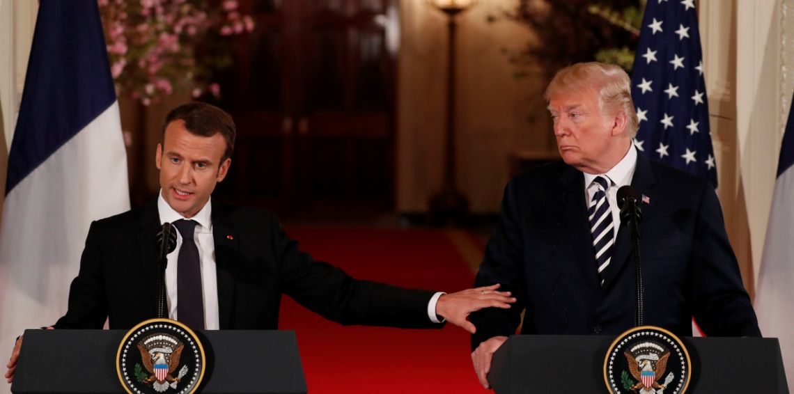 """ترامب مهاجما ماكرون: لا أحد يحتاج """"الناتو"""" أكثر من فرنسا"""