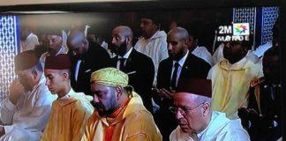 الملك يؤدي صلاة الجمعة بمسجد حسان بالرباط بعد عودته من فرنسا