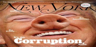"""نيويورك ماغازين تصور ترامب بـ""""أنف خنزير"""" وتتهم السعودية والبحرين والكويت وقطر"""