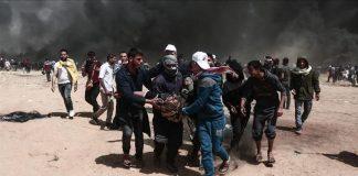 """في عاشر أيام """"مسيرة العودة"""".. إصابة 10 فلسطينيين برصاص صهيوني بغزة"""