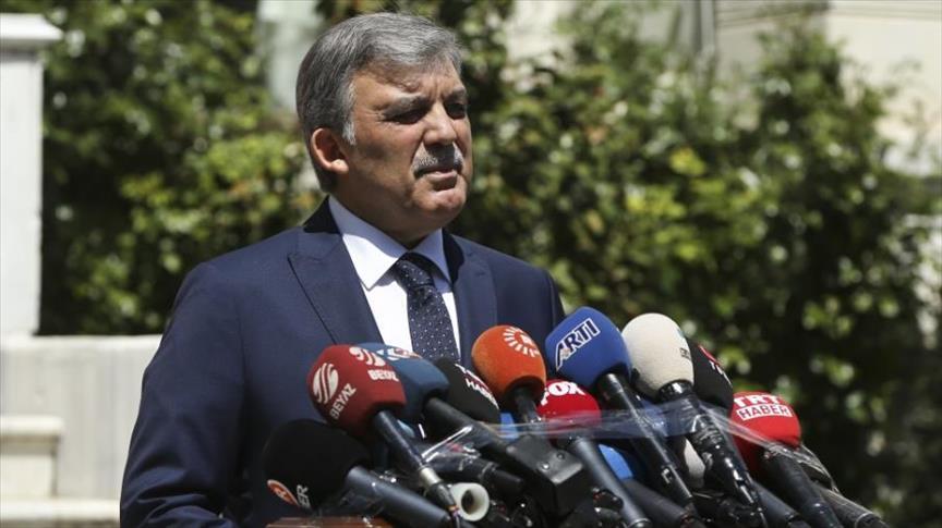 غُل يعلن عدم ترشحه للانتخابات الرئاسية المبكرة في تركيا