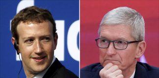 مواجهة كلامية بين رئيسيْ فيسبوك وآبل.. فما السبب؟