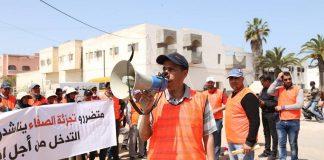 احتجاجات متواصلة لضحايا تجزئة الصفاء بآسفي