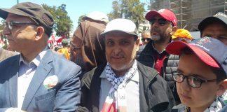 الشوباني حاضر في المسيرة وبلاجي يعلق على الناكصين والمترددين في إشارة لمن تغيب