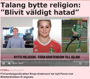 حارسة مرمى منتخب السويد بعد اعتناقها الإسلام: تعرضت لحملة كراهية وأستعد لصيام رمضان