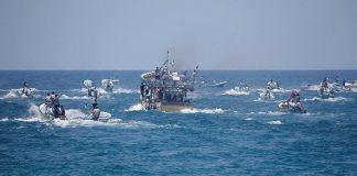 """الصهاينة يفرجون عن 14 من ركاب سفينة """"الحرية"""" الفلسطينية"""