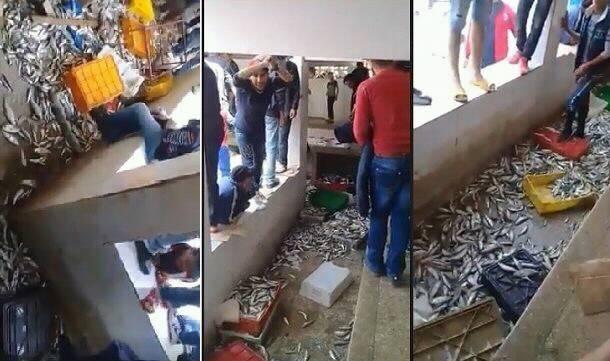 نشطاء في الفيسبوك يستنكرون إتلاف السمك في سوق بإقليم تطوان