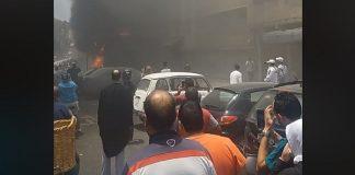 فيديو.. حريق كبير جدا في البيتات بالرباط
