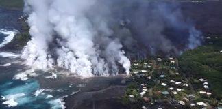فيديو.. مشاهد مخيفة لسحب بخارية عملاقة تغطي سماء هاواي الأمريكية