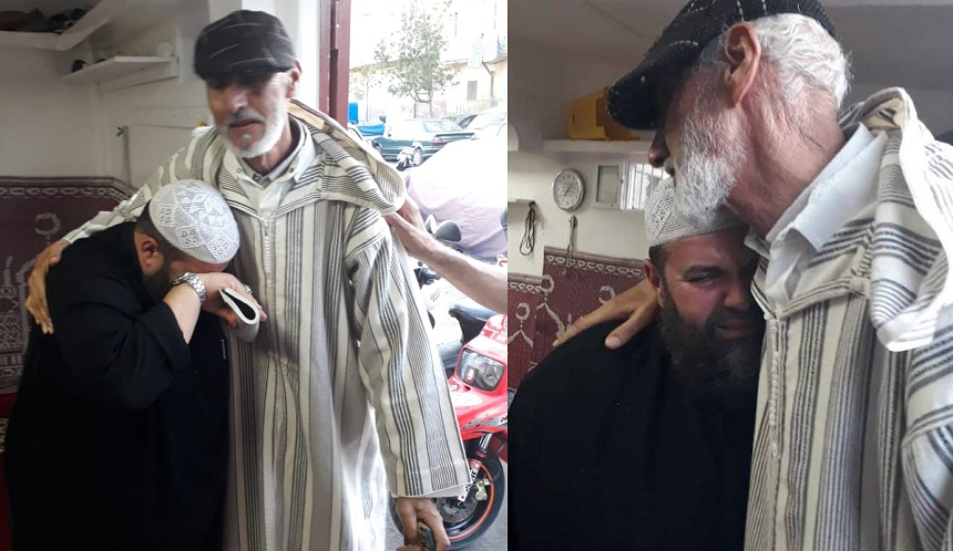 بالصور.. لقاء الشيخ التلميذ بالشيخ الأستاذ في مشهد مؤثر ذرفت له العيون