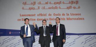 العثماني رفقة أمزازي والصمدي يطلقون سلك الإجازة في التربية بالجامعات المغربية