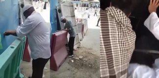 خطير بالفيديو.. وضوء جديد، فقط بالحركات أمام خزان للماء بالمسجد الحرام!!