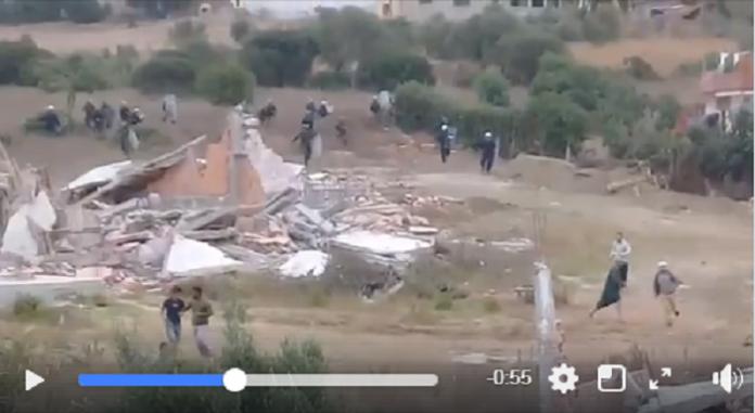 مواجهات بين ساكنة دوار شراقة والقوات العمومية (فيديو)