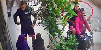 خطير.. شاهد عملية سرقة بالتهديد بالسلاح الأبيض في واضحة النهار والفرار بدراجة نارية بسلا