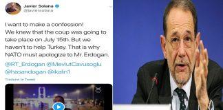 سولانا يعترف حول انقلاب تركيا وشكوك باختراق حسابه
