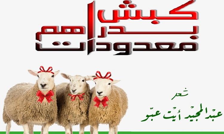 """الشاعر المراكشي عبد المجيد أيت عبو ينظم قصيدة بعنوان: """"كبش بدراهم معدودات"""""""