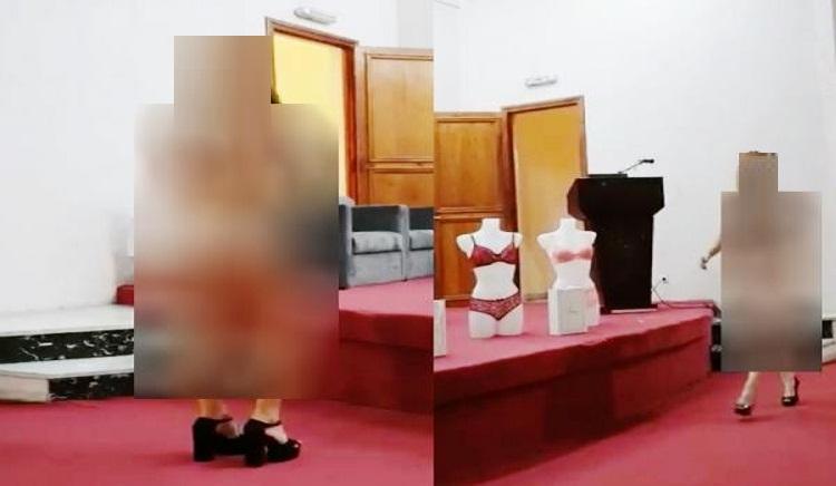 الشركة التي نظمت عرض ملابس النساء الداخلية توضح وتتوعد من سرب الفيديو