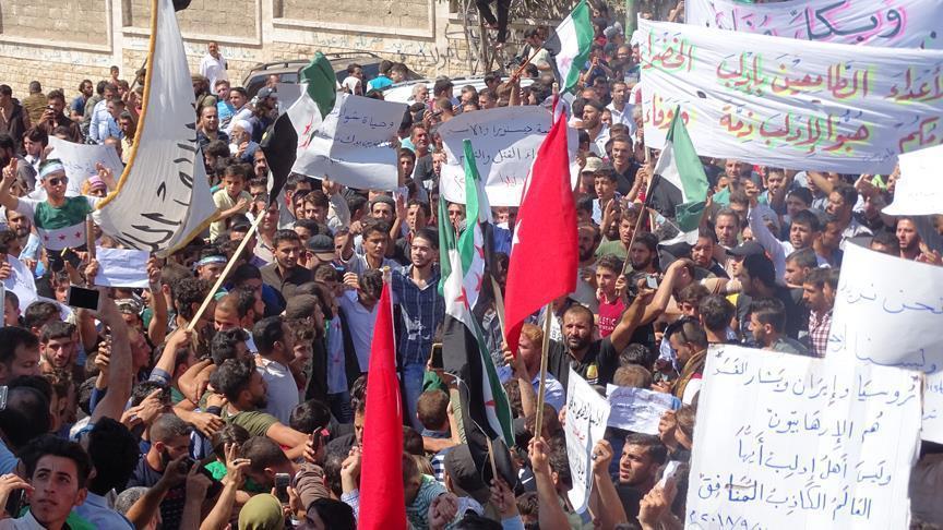 تظاهرات بإدلب تطالب بمحاكمة الأسد