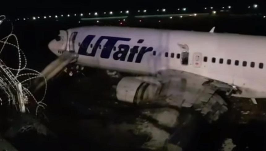 فيديو.. الطائرة الروسية المنكوبة في مطار سوتشي بعد الاحتراق.. شاهد ما حلّ بها!