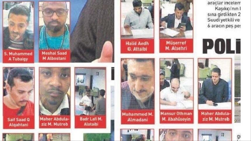 تركيا تنشر صور وأسماء سعوديين وصلوا قبيل اختفاء خاشقجي
