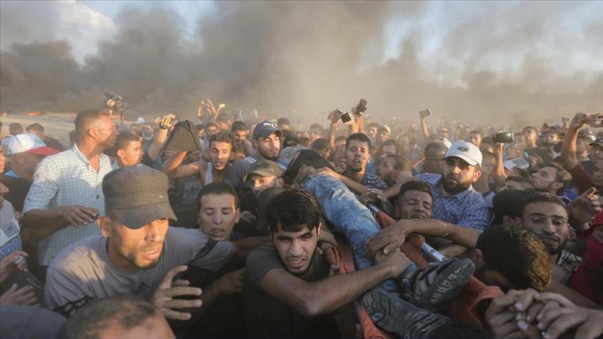 إصابة 7 فلسطينيين برصاص إسرائيلي شرقي غزة