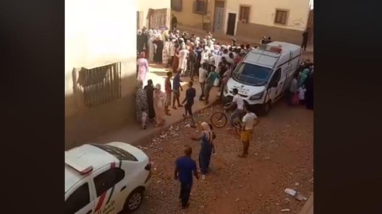 فيديو.. إعادة تمثيل جريمة اختطاف الطفلة البريئة خديجة خزري أمام شقة المختطفة