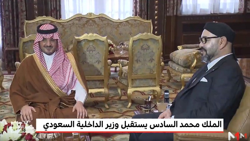 فيديو.. الملك محمد السادس يستقبل وزير الداخلية السعودي