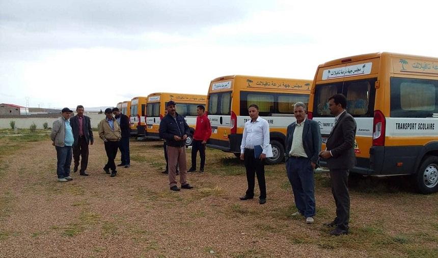 اقتناء 142 حافلة للنقل المدرسي في إطار المبادرة الوطنية للتنمية من 2005 إلى 2018