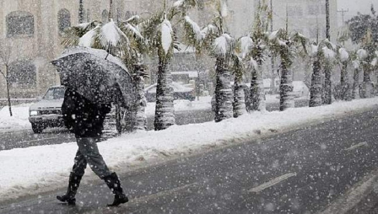 توقعات طقس السبت 19 يناير.. ثلوج وزخات مطرية