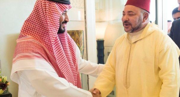 ولي العهد السعودي محمد بن سلمان يرسل برقية للملك محمد السادس