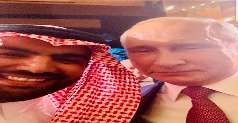 وزير سعودي فرحان بالسيلفيات مع بوتين ووزير الثقافة الإيطالي