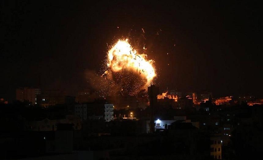 """غارة صهيونية على موقع لـ""""حماس"""" شمالي قطاع غزة"""