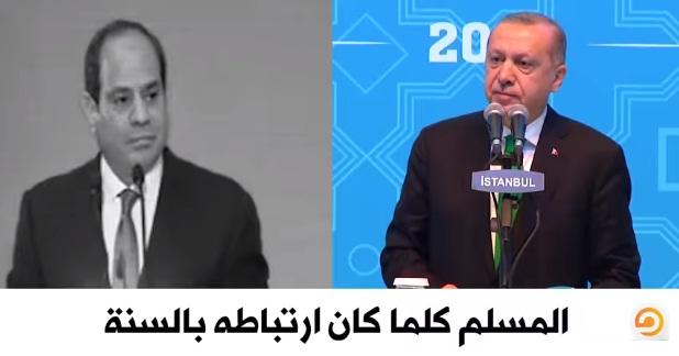 أردوغان والسيسي: السنة النبوية بين ضرورة التمسك بها.. وتركها!
