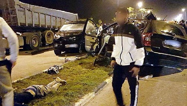 مصرع 5 من مشجعي فريق الدفاع الحسني وإصابة 4 في حادثة سير بالجديدة