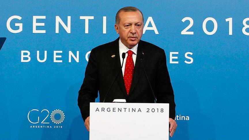 أردوغان ينتقد سياسة الغرب المتبعة بإمدادات السلاح