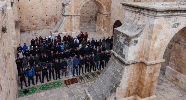 """الاتحاد العالمي لعلماء المسلمين يندد بعدوان الاحتلال الصهيوني على الأقصى و""""مصلى باب الرحمة"""""""