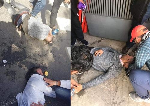 صور.. استعمال خراطيم المياه لفض مسيرة للأساتذة بالرباط في ذكرى 20 فبراير