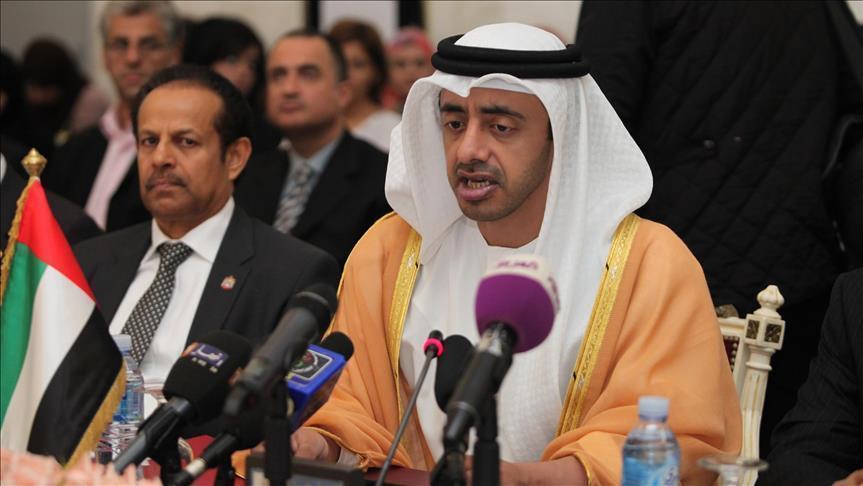 """وزير خارجية الإمارات يقر بحق """"إسرائيل"""" في الدفاع عن نفسها"""