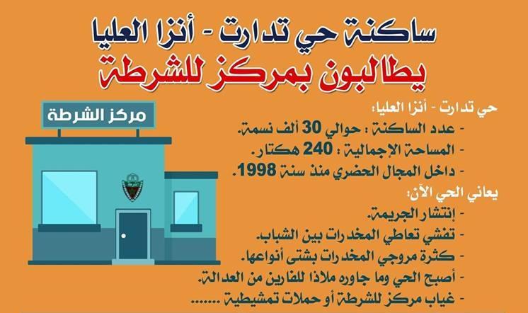 نداء مدني للمطالبة بإقامة مركز أمني للشرطة بحي تدارت-أنزا العليا بأكادير