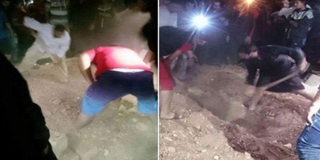 إخراج سيدة من قبرها حية بعد أسبوع من دفنها بابن احمد
