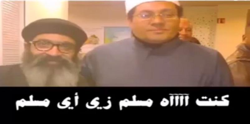 """فيديو.. مصطفى راشد الذي استقبله عصيد على أنه """"عالم متنور"""" يعترف أنه مسيحي ويسب القرآن"""