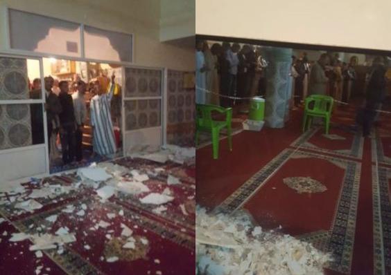 خريبكة.. انهيار سقف مسجد يخلف إصابات (صور)