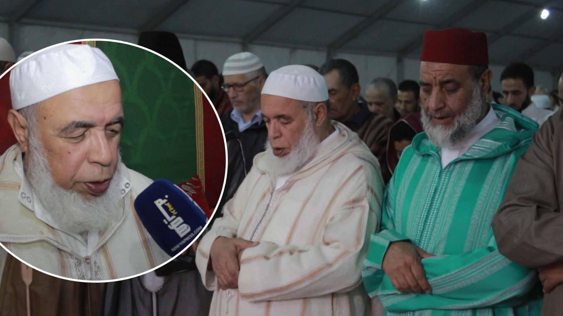 الشيخ محمد السحابي يتحدث عن مصلى التروايح حي الإنبعاث بسلا