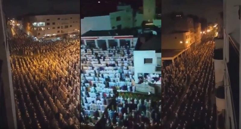 """فيديو.. مثل هذا الإقبال الكبير المميز على صلاة التراويح الذي هاجمته جريدة """"الصباح""""!!"""