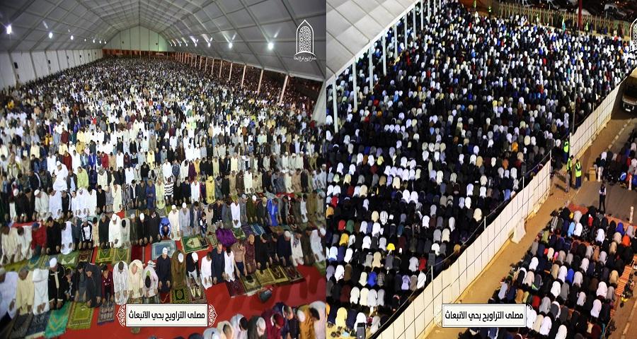 بالصور والفيديو.. 20 ألف مصل يحجون إلى مصلى التراويح حي الإنبعاث بسلا في الليلة الثانية من رمضان 1440هـ