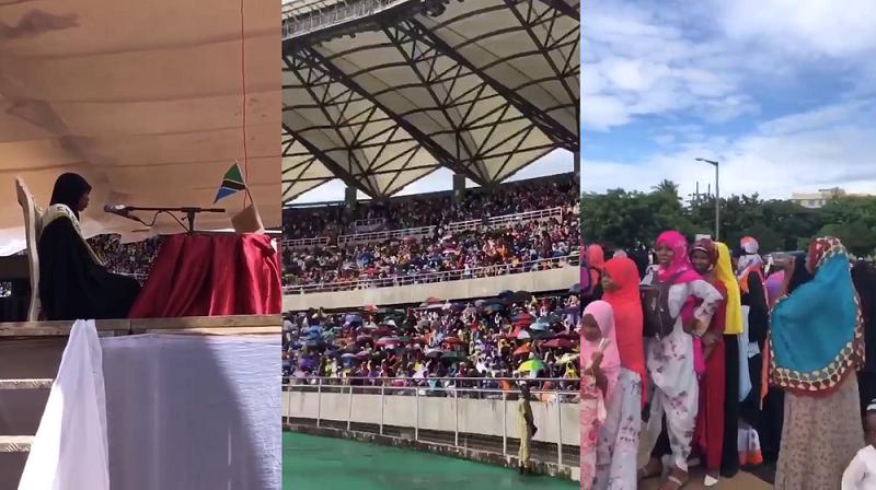فيديو.. شاهد الحضور الكبير للمسابقة القرآنية الكبري في تنزانيا دار السلام يوم 14 رمضان 1440هـ